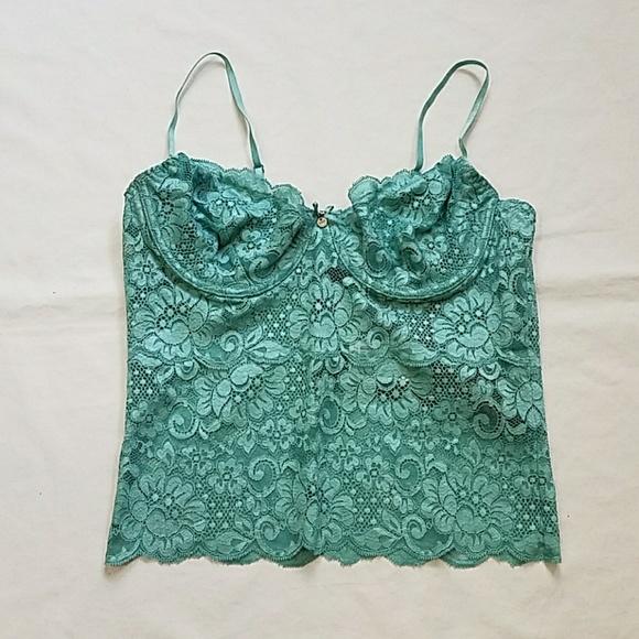 c55ec04c2c0 Guess Floral Lace Bralette Turquoise